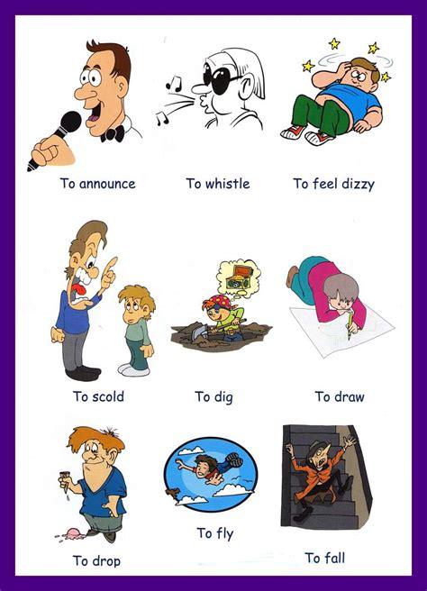 junior high english class common verbs