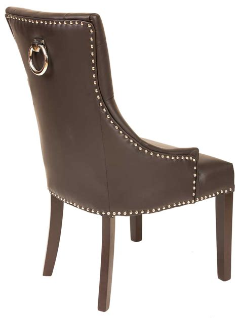 fontwell matt smart leather dining chair buttoned back