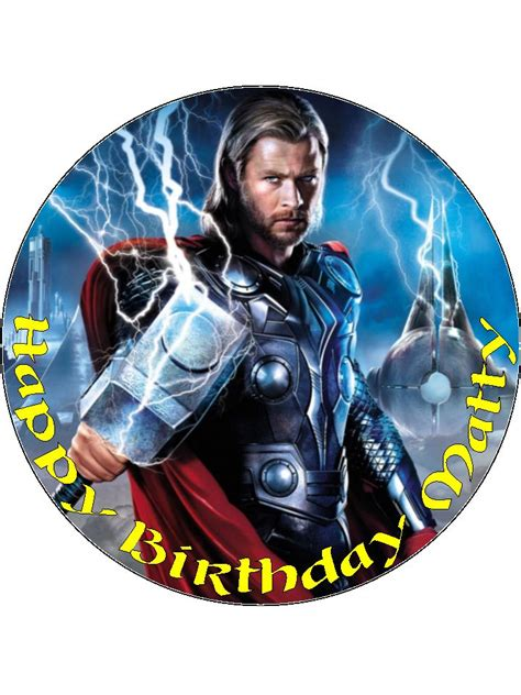 thor thor personalised edible icing  wafer paper