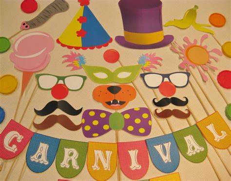 craft decorations pdf circus carnival photo booth props decorations craft