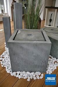 Tisch Höhe 60 Cm : komplettbrunnen zink kubus tisch 60 x 60 x 60 cm slink ideen mit wasser ~ Whattoseeinmadrid.com Haus und Dekorationen