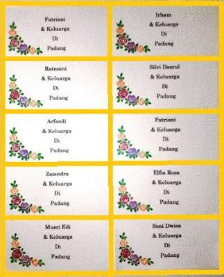 Contoh Penulisan Udangan Yang Tepat by Terbaru Cara Print Atau Cetak Label Undangan 103 Di