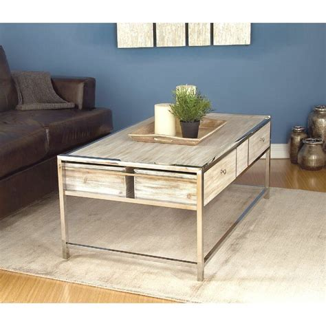 Cleaning the table with a dry dusting cloth is a little tough because the table is a little rough and the cloth can sometimes get caught on a few. Amot Contemporary Coffee Table with Storage in 2020 | Coffee table, Coffee table wood ...