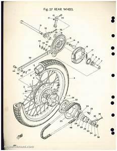 Used 1972 Yamaha Cs5  200cc  Motorcycle Parts Manual
