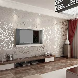 Grey Living Room Wallpaper – Modern House