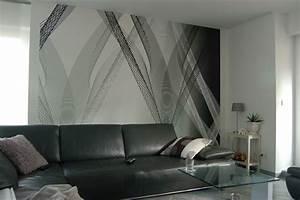 Wandgestaltung Mit Tapeten : beautiful wandgestaltung mit tapeten und farben ~ Lizthompson.info Haus und Dekorationen