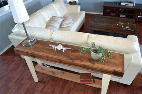Diy Wood Sofa by Diy Reclaimed Wood Sofa Table Pallet Furniture Plans