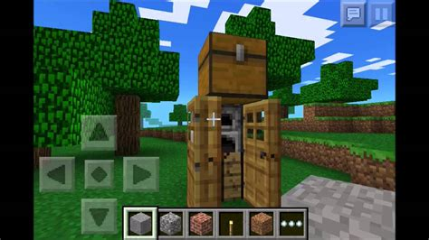 minecraft pocket edition chicken farm smallest house  youtube
