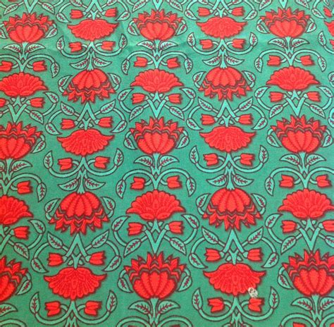 print fabrics floral print cotton fabric green and red printed by desifabrics