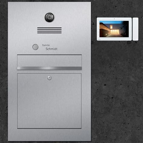 briefkasten mit videosprechanlage briefkasten mit videosprechanlage b3 maxi z e d de