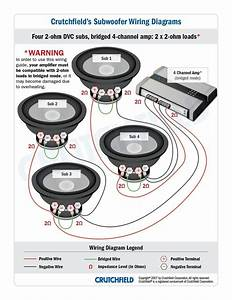 4 Channel Amp 2 Speakers 1 Sub Wiring Diagram  Bypassing