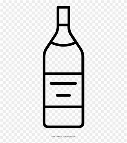 Clipart Liquor Bottle Glass Coloring Pinclipart