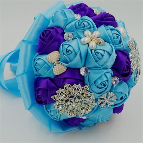 Silk Rose Royal Blue Satin Artificial Wedding Accessories
