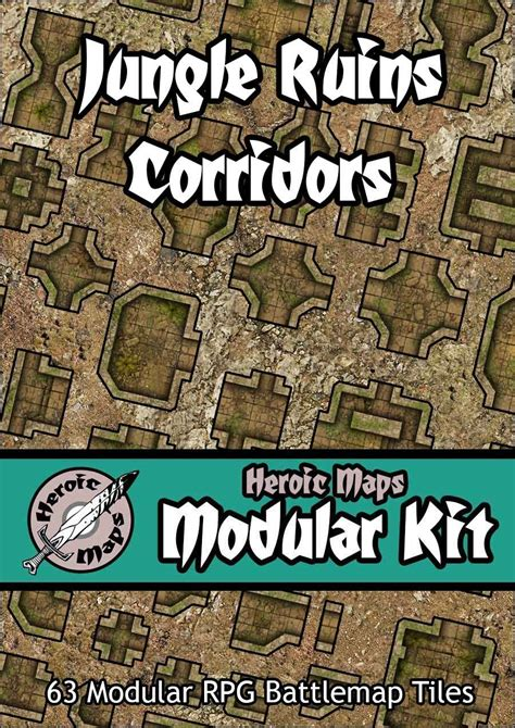 Making 3d Dungeon Tiles by Heroic Maps Modular Kit Jungle Ruins Corridors Heroic