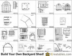 12x16 gambrel shed plans with a porch