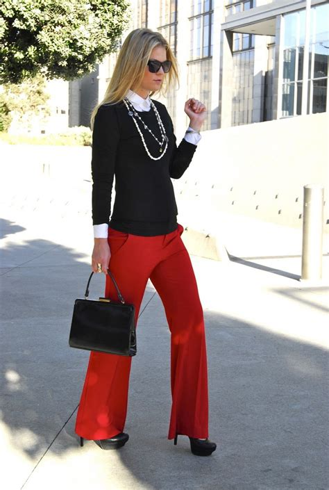 Ladies Red Pants Outfits 2018   FashionTasty.com