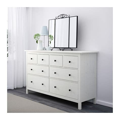 chambre hemnes hemnes chest of 8 drawers white stain 160x96 cm ikea