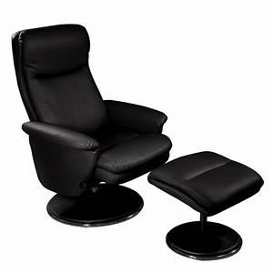 Fauteuil Simili Cuir : fauteuil relax simili cuir avec pouf assorti pour s 39 allonger vilacosy ~ Teatrodelosmanantiales.com Idées de Décoration