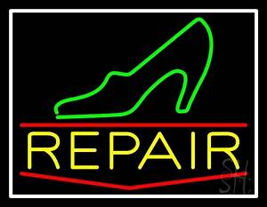 Green Sandal Yellow Repair Neon Sign