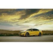 BMW M4 Coupe F82 Yellow Car Side View Wallpaper  Cars