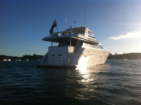 Boat Launch Auckland by Templar Charter Boat Auckland 84ft Motor Yacht Decked