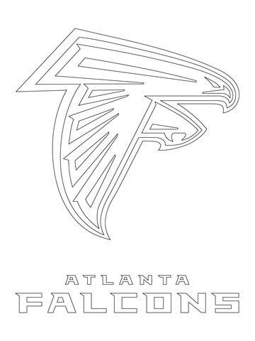atlanta falcons logo coloring page  nfl category
