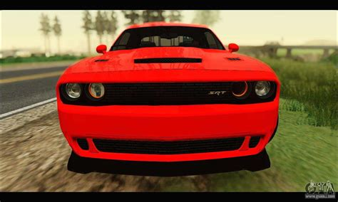 Dodge Car : Dodge Challenger Srt Hellcat 2015 For Gta San Andreas