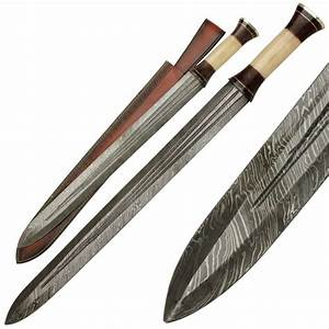 Ancient Greek Infantry Damascus Steel Spatha Sword - Gifts