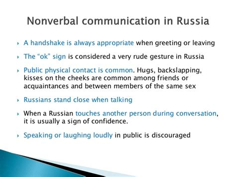 Non Verbal Communication Russia Japan And China