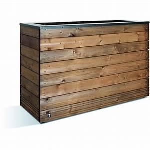 Jardinière En Hauteur : jardini re en bois 179 litres 45 x 120 cm hauteur 74 ~ Nature-et-papiers.com Idées de Décoration