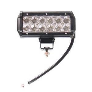 W in cree led work light bar flood fog lamp offroad