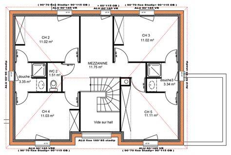 plan maison etage 4 chambres plan maison gratuit etage 5 chambres