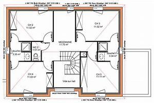 plan maison gratuit etage 5 chambres With plan de maison a etage 5 chambres