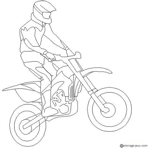 coloriages moto cross