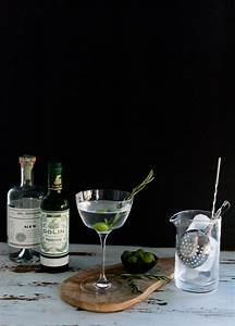 portrait of a cocktail // smoked rosemary oil dirty martini