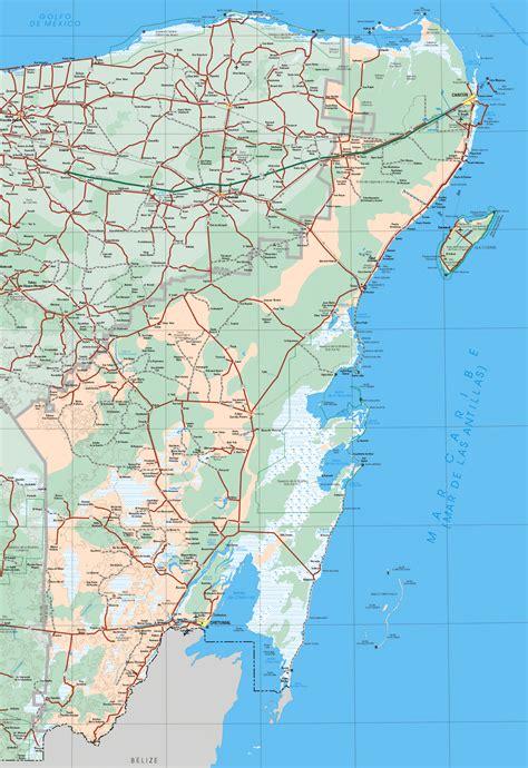 quintana roo mexico map google earth