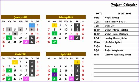 Annual Calendar Of Events Template 6 Excel Yearly Calendar Template 2014 Exceltemplates