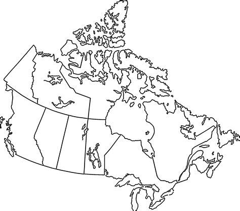 blank map  canada printable