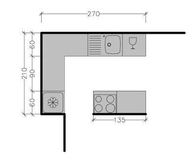 dimensions plan de travail cuisine plan cuisine avec ilot cuisine en image