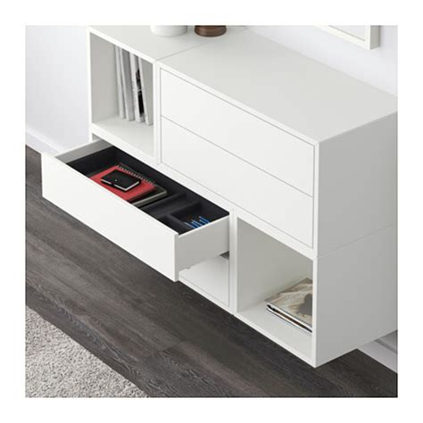 eket wall mounted cabinet combination white 105x35x70 cm