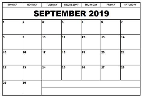 printable september  calendar  notes net