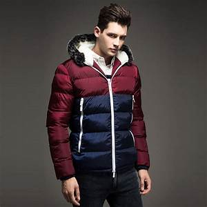 Free Shipping 2017 Contrast Color Mens Winter Jackets Men ...