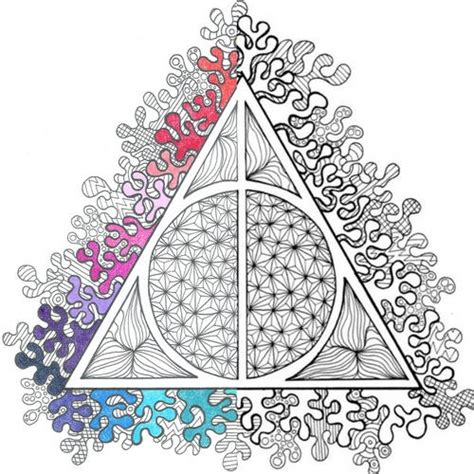 harry potter deathly hallows  coloring page