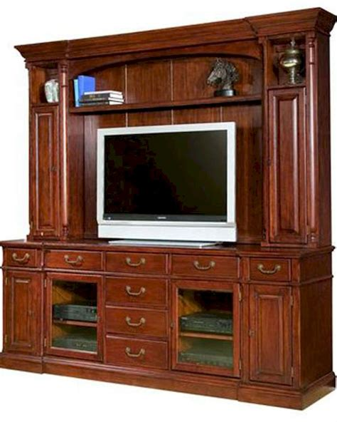 Entertainment Credenzas by Cherry Finish Entertainment Credenza W Hutch By Hekman He