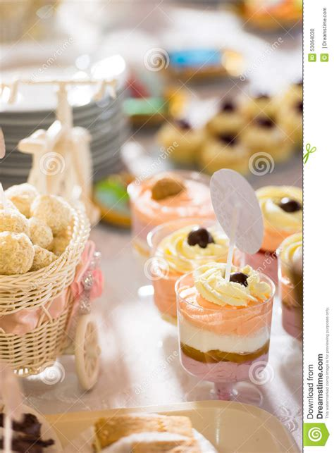 Cocktail Party Desserts Stock Photo Image Of Ombre, Tasty