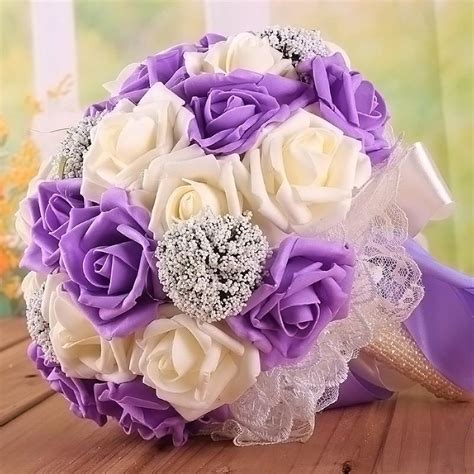 wedding supplies marriage holding flowers pe roses bridal