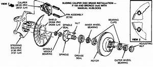 Whole Diagram Of 1988 Ford F150 Front Brake And Hub Assembly