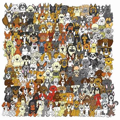 Panda Dog Hidden Edition Unframed Puzzles Animal