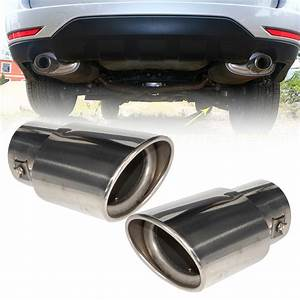 2pcs 2 5 U0026quot 63mm Chrome Exhaust Tail Muffler Tip Pipe For