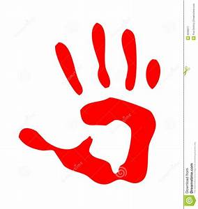 Red Isolated Handprint Royalty Free Stock Photography ...